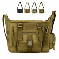 "Mens Tactical Shoulder Bag Messenger Bag Outdoor Travel Bag for 14"" PC Laptop"