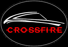 Chrysler Crossfire Steering Wheel Badge (black/chrome/red)