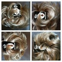 Hair scrunchie for bun or ponytail Light Blonde & Light/Medium Brown Ash Mix