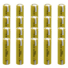 20x Aa 1.2V 1000mAh Rechargeable Batteries w/Tabs For Diy, Radios, Power Packs
