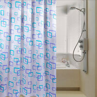 Shower Curtain Bathroom Waterproof Polyester Fabric Random Pattern & Hooks BH