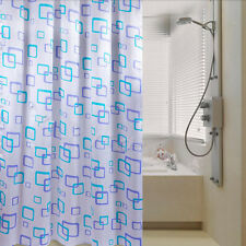 Shower Curtain Bathroom Waterproof Polyester Fabric Random Pattern & Hooks PT
