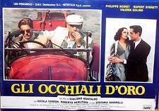 fotobusta lobby card GLI OCCHIALI D'ORO MONTALDO NOIRET EVERETT GOLINO CINEMA