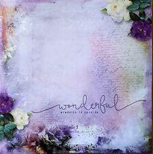 12 x 12 Printed Cardstock - Wonderful Memories to Cherish