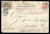 GERMANY KIAUTSCHOU to BRESLAU cover 1906 - VF