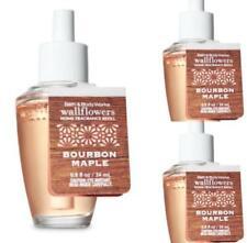 Bath & Body Works BOURBON MAPLE Wallflower Fragrance Refill Bulbs x 3 Lot