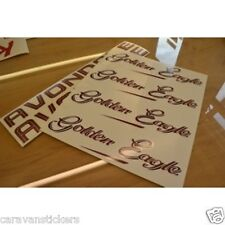 AVONDALE Golden Eagle Caravan Stickers Decals Graphics - SET OF