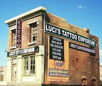 O Scale Building Kit Downtown Deco Luci's Tattoo + 60 Piece Detail Set!