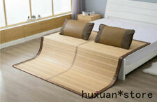 Bamboo Bed Mat for Summer Cool Feeling Mat Folding for Bed Full Queen King Size