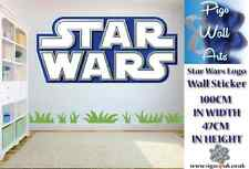 STAR WARS Logo Adesivo Muro Decalcomania Bambini Camera Da Letto Decalcomania Bambini adesivo grande.