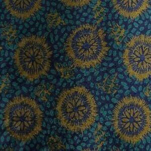 Blue Gold Foulard PIERRE CARDIN Silk Tie