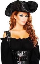 Adult Women Costume Pirate Of The Night Accessory Hat Trim Velet Design