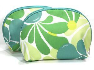 2pc Clinique Cosmetic Makeup Bag (Green)