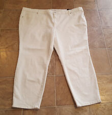 facd7877632 NEW AVA   VIV SZ 24W CROPPED JEGGING DENIM JEANS WHITE POWER STRETCH C