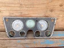 Vintage 1969 - 1972 Chevy Truck Gauge Cluster Dash with Speedometer & Fuel Gauge