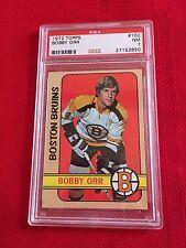 1972-1973 Topps Bobby Orr PSA 7 hockey card / NM / #100 / NHL / Boston Bruins