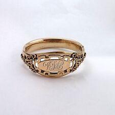 Victorian 14K Gold Filled Ornate Bangle Bracelet 43.5gr