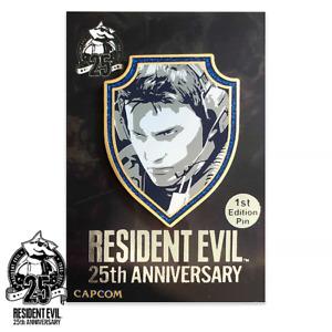 Resident Evil Chris Redfield 1st Edition 25th Anniversary Enamel Pin Figure