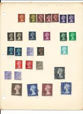Great Britain Machin Heads Used Collection, With 1 & 2 Pound, 9 Pages