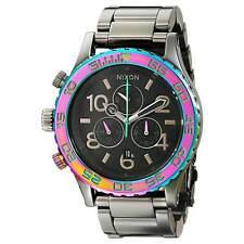 Nixon A0371698 Gent's Chrono Grey Dial Gunmetal Steel Lefty Watch