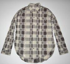 8a979fe906b New Vans Womens Wind Chime Button Up Woven Cotton Tunic Shirt Blouse Medium