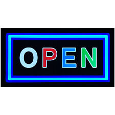 "Bright 19x10"" Illuminated Backlit OPEN Business LED Light Sign Display Neon"