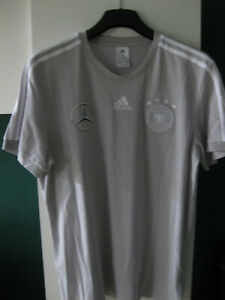 Adidas DFB T- Shirt Gr. XL Mercedes Benz Sponsor Aufdruck in Grau