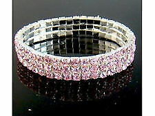 Rhinestone Silver Plated Beauty Costume Bracelets
