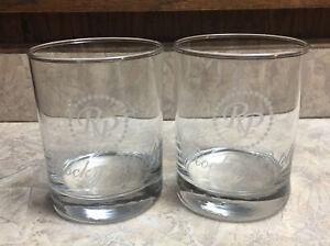 2 ROCKY PATEL CIGAR ETCHED GLASS ROCKS GLASSES BARWARE MAN CAVE