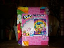 SHOPKINS GIRLS SLIKY SOFT THROW 40 X 50 INCHES PINK KIDS BLANKET CARTOON BEDDING