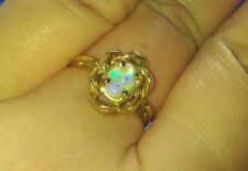 Vintage 14k Yellow Gold Opal Ring!  Size 6-1/4!