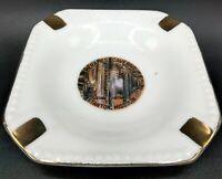 "Vintage 4"" Meramec Caverns Stanton Missouri Souvenir Gold Accented Ashtray"