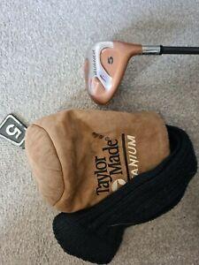 Taylor Made Burner 5 Wood Bubble Shaft R-80 Plus Golf Club With Sock
