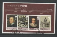 GB 2010 Kings & Queens House of Stuart MINISHEET belle usate Set timbri per pezzo