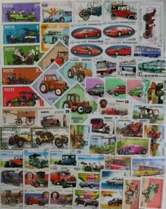 AUTOMOBILES, CARS, MOTOR VEHICLES 200 different lot of Worldwide stamps (lot#DP)