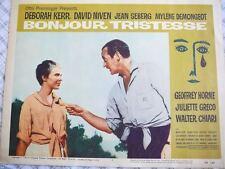 Movie Lobby Card - Bonjour Tristesse - 1958 - Deborah Kerr David Niven