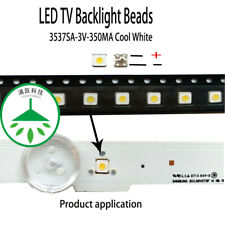 100pcs/lot led 3537 3v 350ma cool white for repair samsung tv lcd backlight hot
