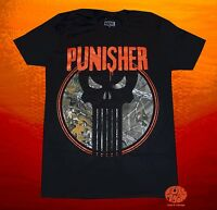 New Marvel Punisher Real Tree Hunting Black Camo Mens T-shirt