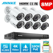 ANNKE 8MP 4K CCTV System 16CH NVR Video Recorder Home Surveillance POE System UK