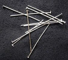 BULK 100 Head Pins Silverplate 35mm Jewellery Making / Findings for Earrings