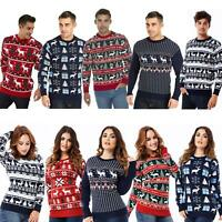 New Christmas Jumper Unisex Mens Womens Ladies Xmas Knitted Sweater Novelty AW19