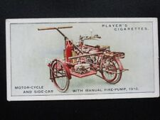 No.36 MOTOR CYCLE WITH MANUAL PUMP Fire Fighting Appliances - John Player 1930