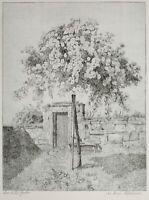 Anna Feldhusen - Der stille Garten - Radierung - o. J. (posthumer Druck)