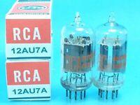 RCA 12AU7 A ECC82 CLEARTOP VACUUM TUBE 1960's CURVE TRACER MATCH PAIR SWEET TONE