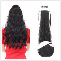 """24"""" Ponytail Synthetic Pieces Hair Extensions Ribbon Drawstring False Hair Piece"""