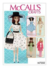 SEWING PATTERN! MAKE 11.5 INCH DOLL CLOTHES! FANCY~CASUAL OUTFITS FIT BARBIE !