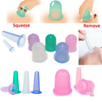4pcs/set Silicone Anti Cellulite Massage Vacuum Full Body Facial Cups Cupping