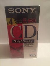 4 x SONY Blank VHS Video Cassette Tapes 180 minutes 3 Hours NEW SEALED 4 PACK