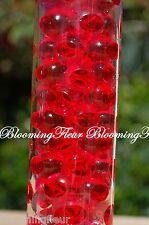 RED - Bio Gel CRYSTAL Water Beads MUD wedding decoration vase center - 12 packs