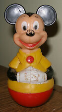 Disney Mickey Mouse Rolly Polly Rattle Plastic Vintage 1975 Walt Disney Products